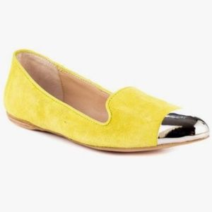 DV Dolce Vita Lunna Flat Acid Yellow Suede Shoes